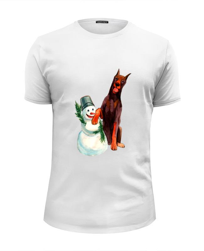 printio футболка wearcraft premium slim fit обезьяна символ нового 2016 года Printio Футболка Wearcraft Premium Slim Fit Забавная акварельная собака, символ 2018 года