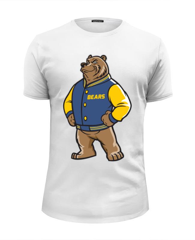 Printio Футболка Wearcraft Premium Slim Fit Медведь
