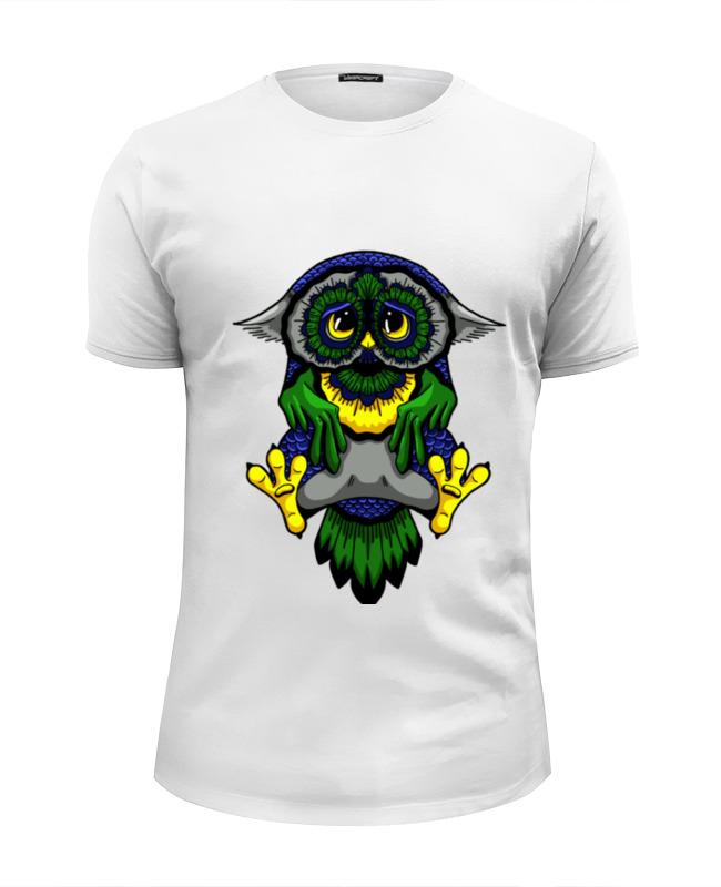футболка wearcraft premium slim fit printio сказочная сова Printio Футболка Wearcraft Premium Slim Fit Грустная сова