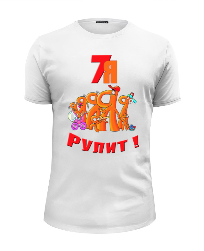 Printio Футболка Wearcraft Premium Slim Fit Семья 02