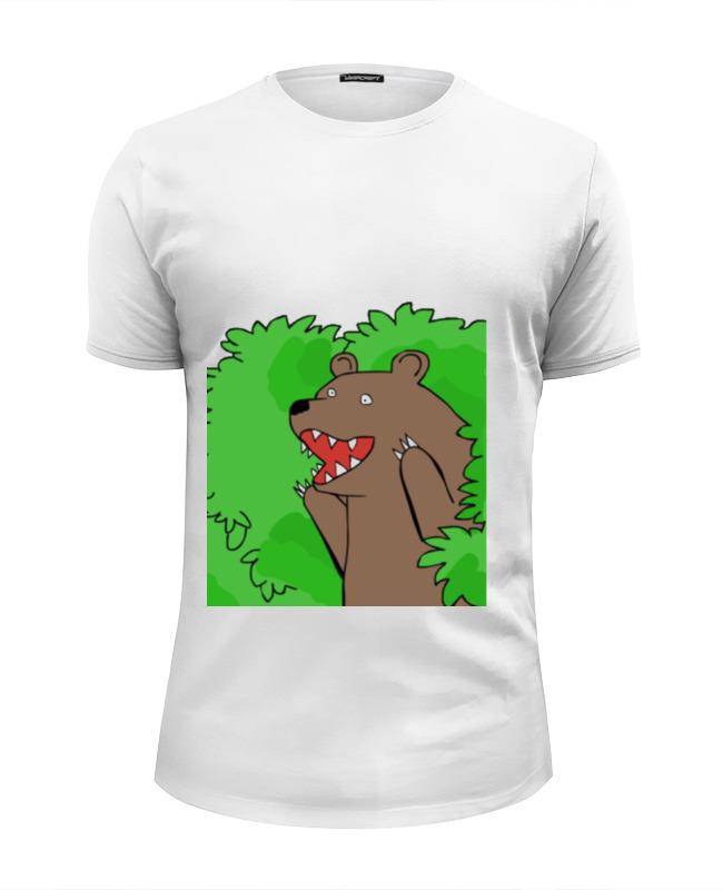 Printio Футболка Wearcraft Premium Slim Fit Медведь из кустов