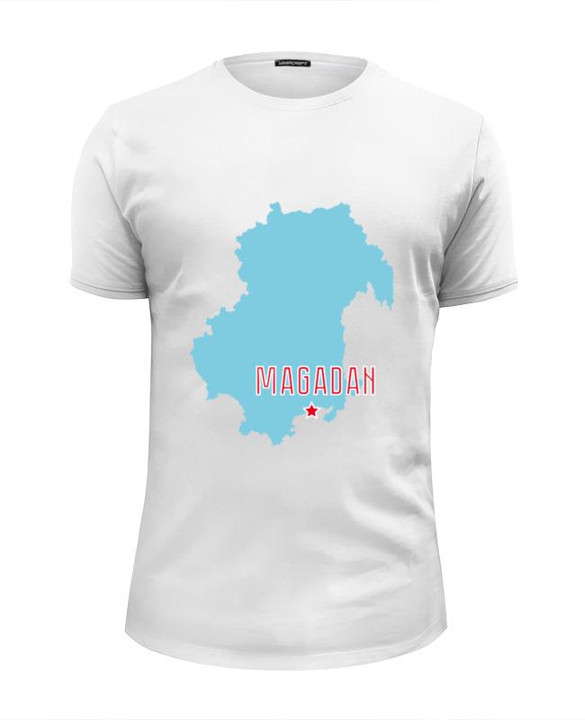 Printio Футболка Wearcraft Premium Slim Fit Магаданская область. магадан