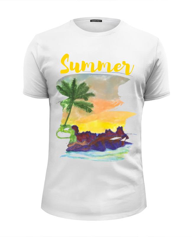 Фото - Printio Футболка Wearcraft Premium Slim Fit Summer, лето, море, облака андрей бузуев берег и море