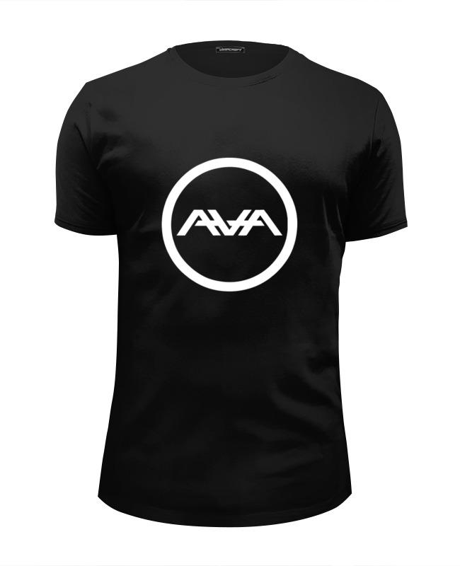 Printio Футболка Wearcraft Premium Slim Fit Angels and airwaves circle logo printio футболка с полной запечаткой для девочек astronaut angels and airwaves
