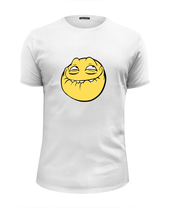 Printio Футболка Wearcraft Premium Slim Fit Лицо mem printio футболка wearcraft premium mem смех