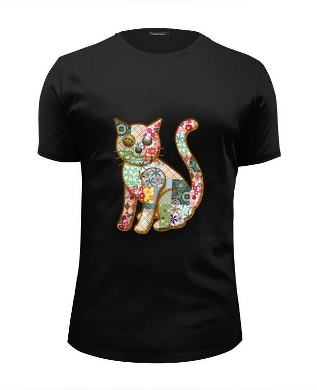 Printio Футболка Wearcraft Premium Slim Fit Лоскутный кот футболка wearcraft premium slim fit printio кот гарфилд