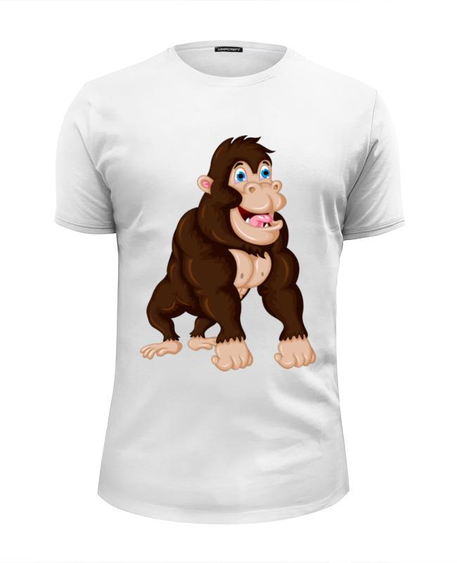 printio футболка wearcraft premium slim fit обезьяна символ нового 2016 года Printio Футболка Wearcraft Premium Slim Fit Обезьяна