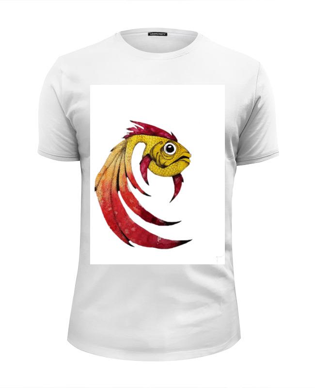 Фото - Printio Футболка Wearcraft Premium Slim Fit Золотая рыбка printio футболка wearcraft premium slim fit я русский золотая надпись