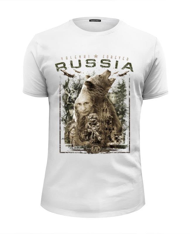 футболка wearcraft premium slim fit printio русские идут Printio Футболка Wearcraft Premium Slim Fit Россия