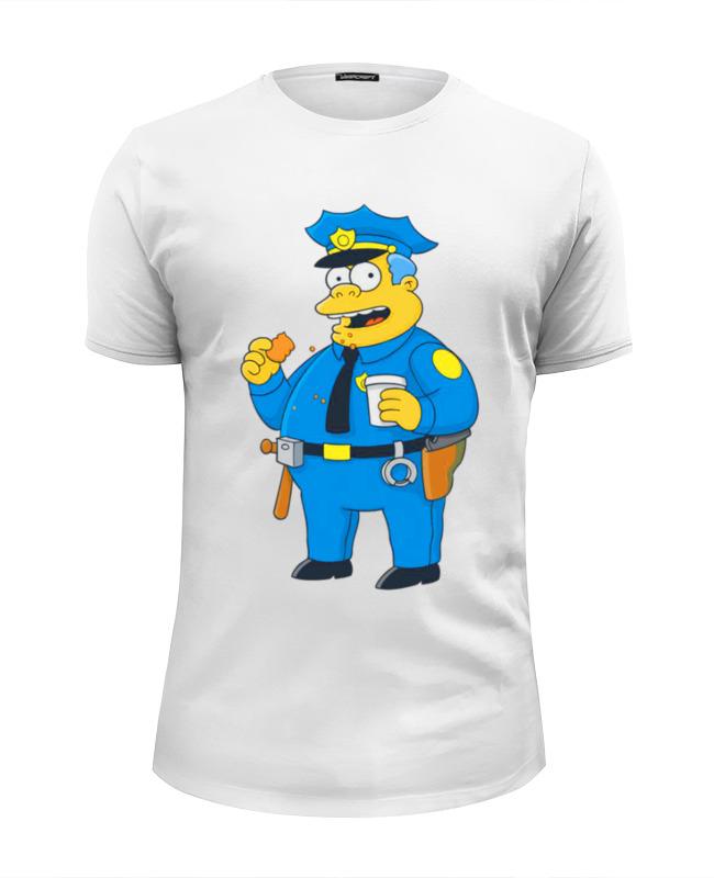 Printio Футболка Wearcraft Premium Slim Fit Полицейский из симпсонов