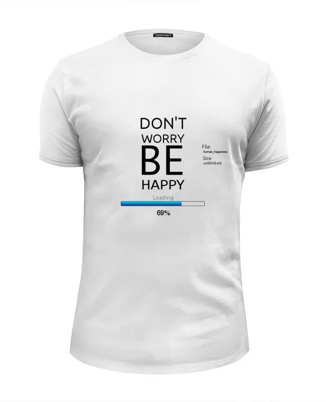 Printio Футболка Wearcraft Premium Slim Fit счастье загружается...