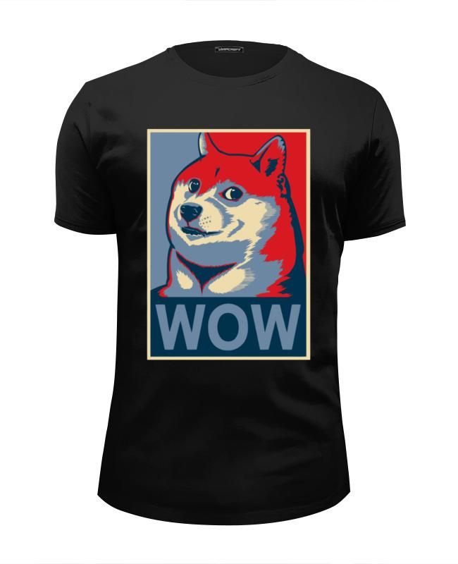 printio футболка wearcraft premium slim fit doge wow Printio Футболка Wearcraft Premium Slim Fit Wow doge