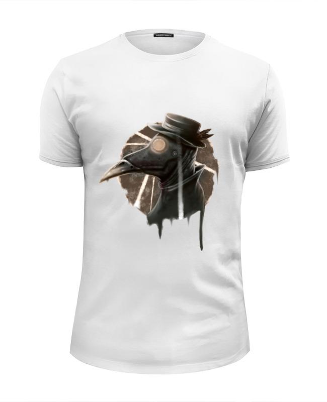 printio футболка wearcraft premium slim fit чумной доктор Printio Футболка Wearcraft Premium Slim Fit Чумной доктор