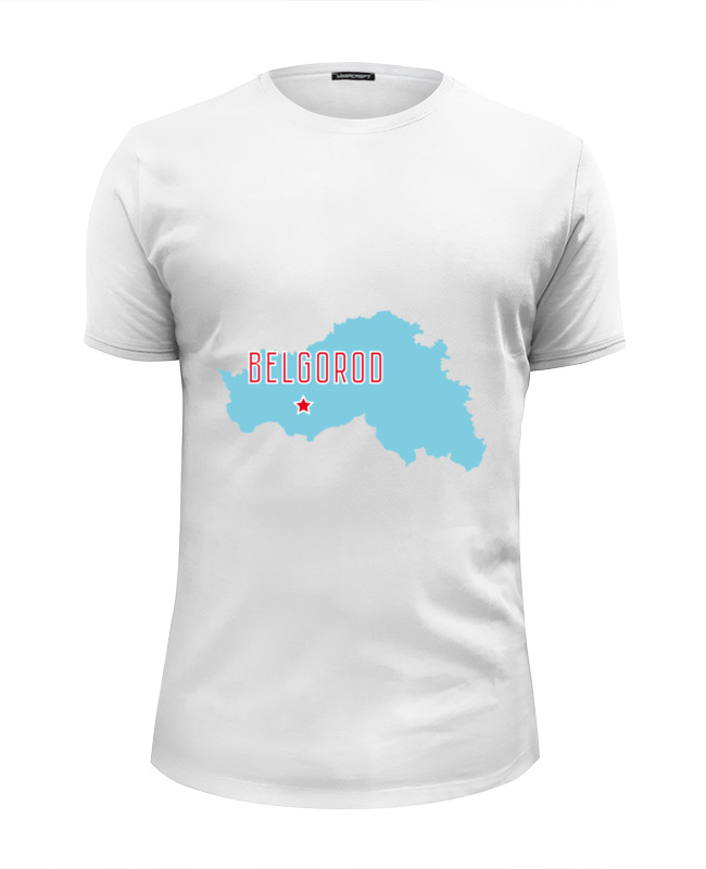 Printio Футболка Wearcraft Premium Slim Fit Белгородская область. белгород