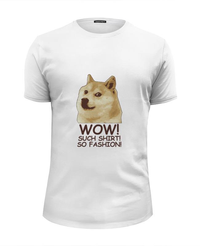 printio футболка wearcraft premium slim fit doge wow Printio Футболка Wearcraft Premium Slim Fit Doge wow such shirt so fashion