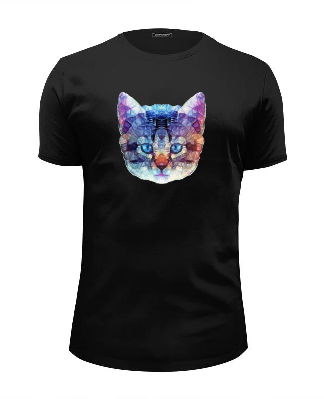 Printio Футболка Wearcraft Premium Slim Fit Абстрактный кот футболка wearcraft premium slim fit printio кот гарфилд