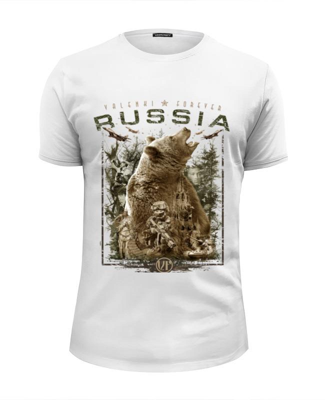 футболка wearcraft premium slim fit printio русские идут Printio Футболка Wearcraft Premium Slim Fit Россия (в. 2)