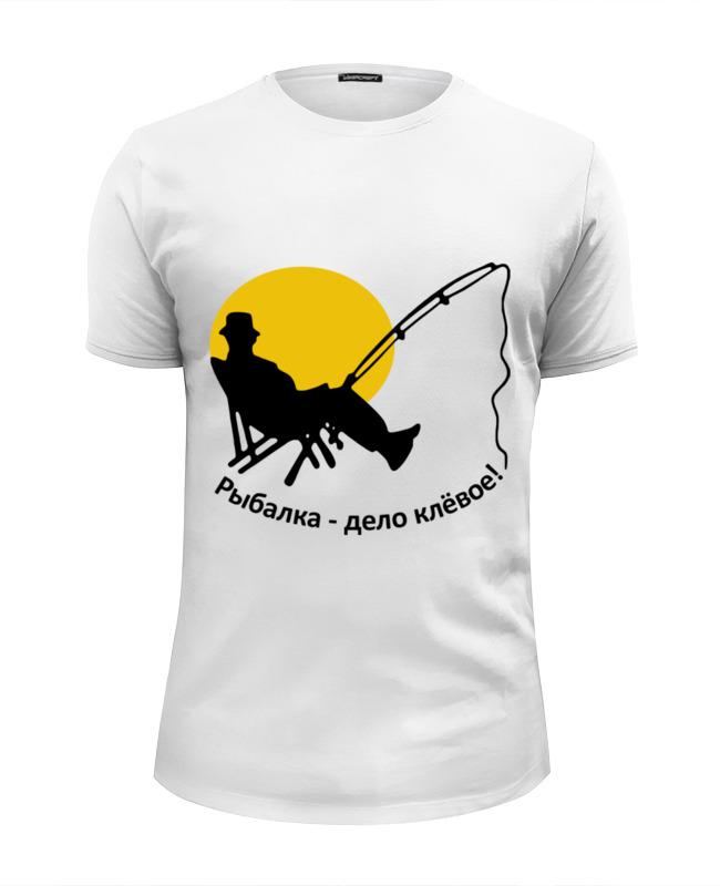 Фото - Printio Футболка Wearcraft Premium Slim Fit Рыбалка - дело клевое printio футболка wearcraft premium slim fit рыбалка 1