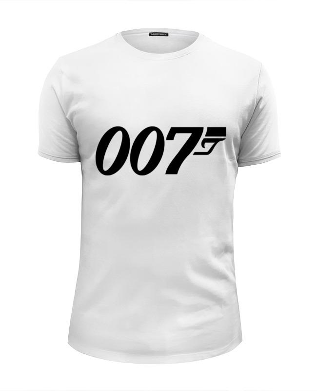 футболка wearcraft premium slim fit printio ronnie james dio Printio Футболка Wearcraft Premium Slim Fit Джеймс бонд (james bond) 007