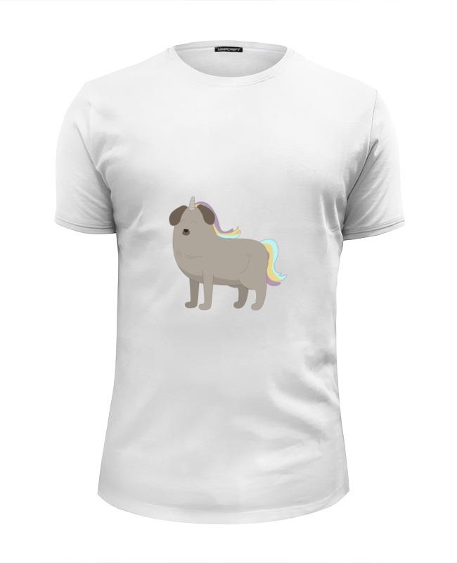 Printio Футболка Wearcraft Premium Slim Fit Пёс - единорог printio футболка wearcraft premium slim fit влюблённый пёс