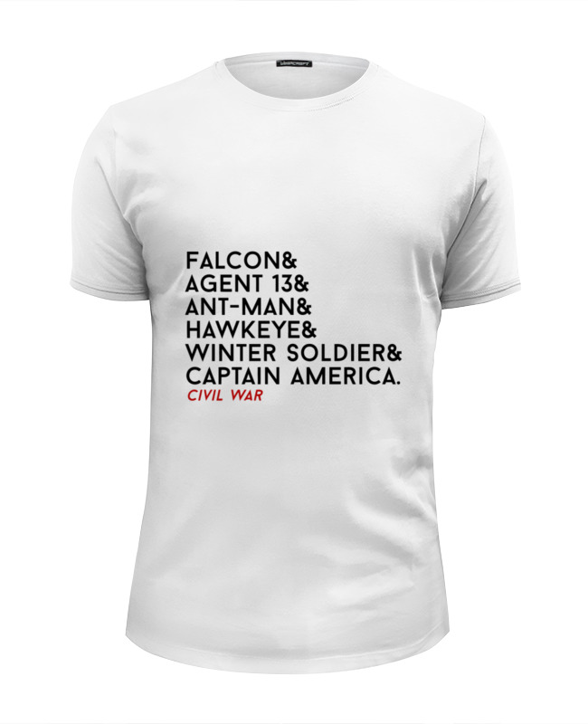 Printio Футболка Wearcraft Premium Slim Fit Первый мститель (противостояние) printio футболка wearcraft premium котэ мститель