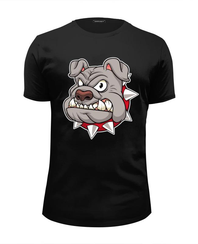 printio футболка wearcraft premium slim fit злой волк доктор кто Printio Футболка Wearcraft Premium Slim Fit Злой бульдог
