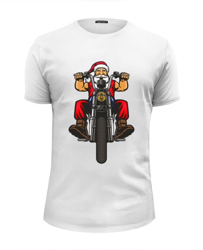 Printio Футболка Wearcraft Premium Slim Fit Santa moto printio футболка wearcraft premium slim fit moto retro cafe