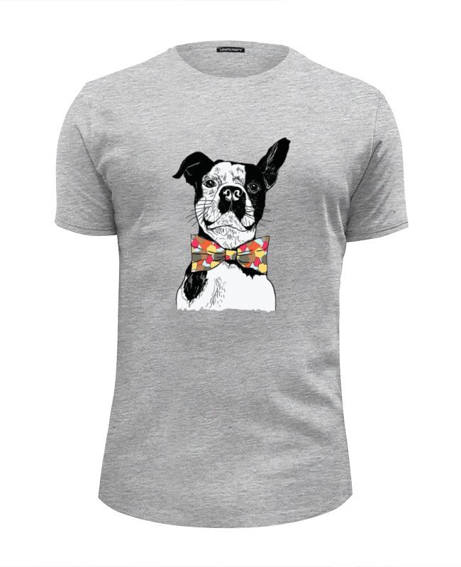 Printio Футболка Wearcraft Premium Slim Fit Собака джентльмен футболка wearcraft premium slim fit printio собака shar pei