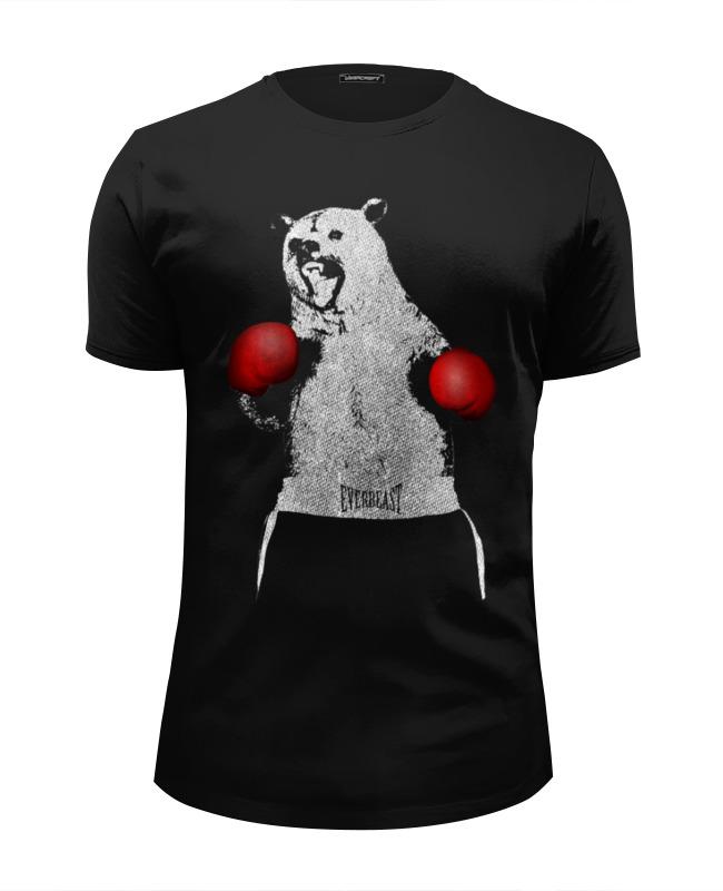 Printio Футболка Wearcraft Premium Slim Fit Медведь боксер