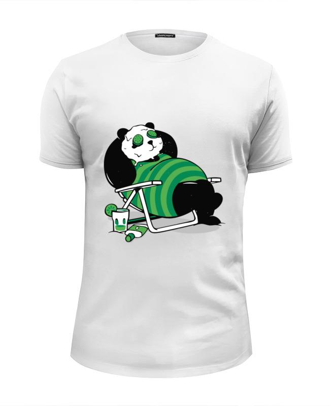 Printio Футболка Wearcraft Premium Slim Fit Панда (panda) printio футболка wearcraft premium panda godfather