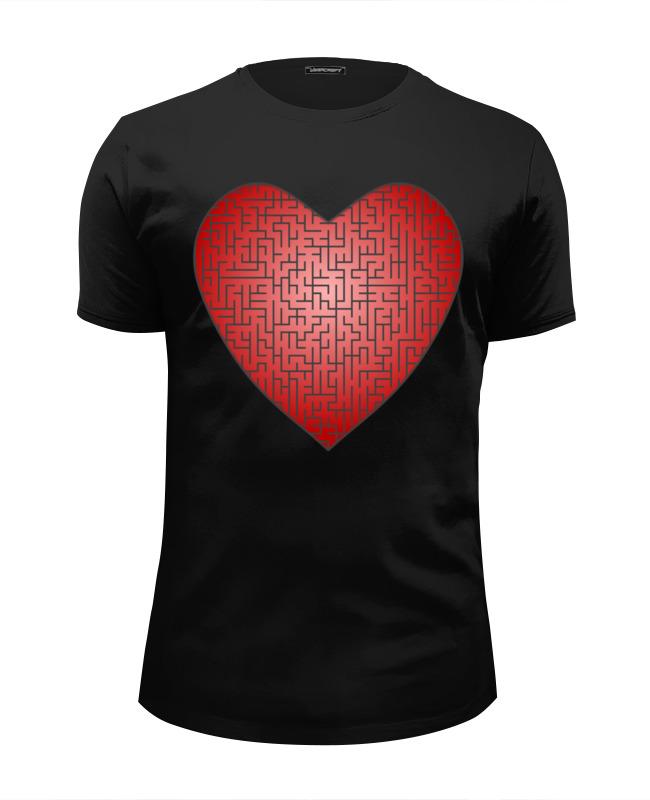 printio футболка wearcraft premium slim fit фиксед гир светлая Printio Футболка Wearcraft Premium Slim Fit Сердце-лабиринт