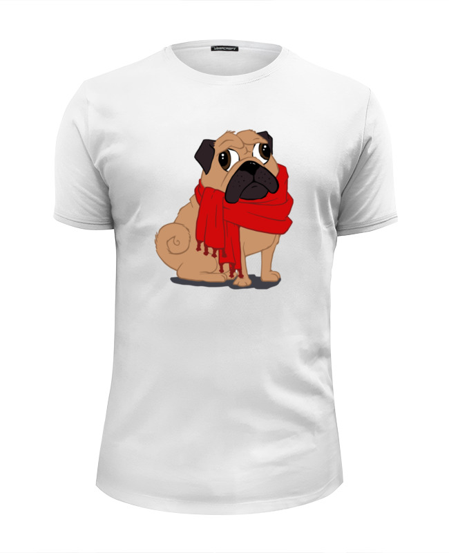 Printio Футболка Wearcraft Premium Slim Fit Мопс (pug) printio футболка wearcraft premium slim fit мопс космонавт
