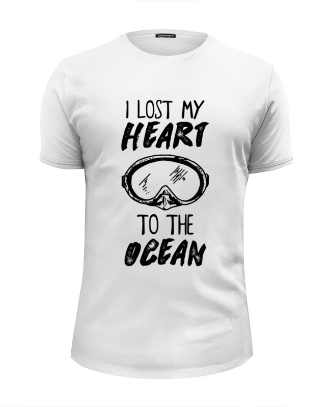 printio футболка классическая i lost my heart to the ocean Printio Футболка Wearcraft Premium Slim Fit I lost my heart to the ocean