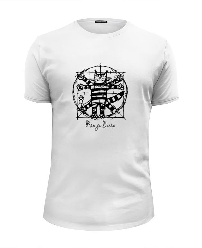 Printio Футболка Wearcraft Premium Slim Fit Кот да винчи printio футболка wearcraft premium slim fit да всем