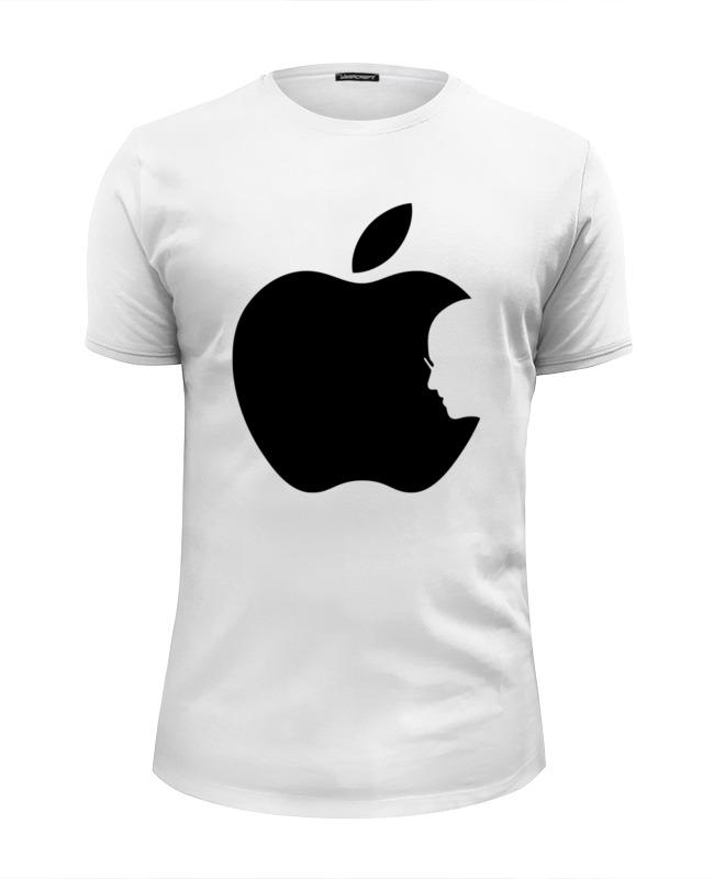 Printio Футболка Wearcraft Premium Slim Fit Apple (стив джобс) printio толстовка wearcraft premium унисекс стив джобс