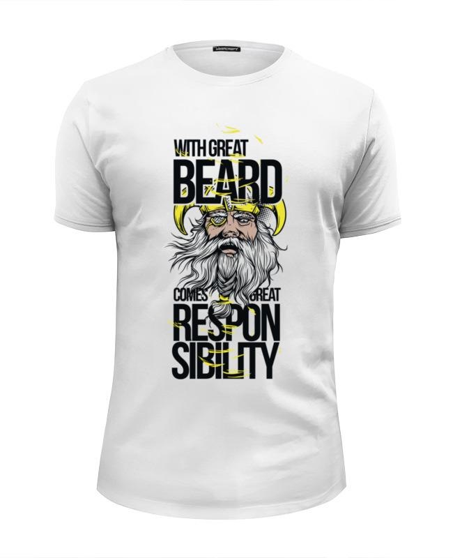 Printio Футболка Wearcraft Premium Slim Fit Большая борода