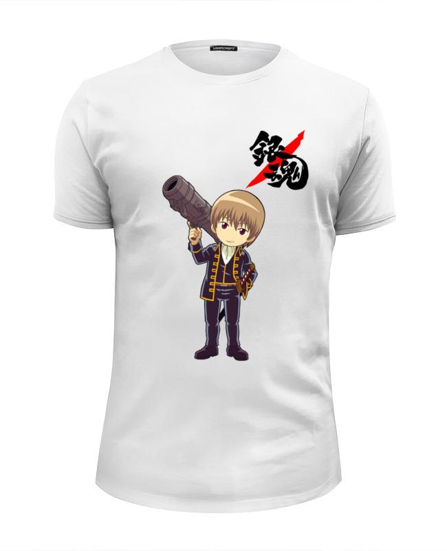 printio футболка wearcraft premium slim fit фиксед гир светлая Printio Футболка Wearcraft Premium Slim Fit Gintama - sougo chibi