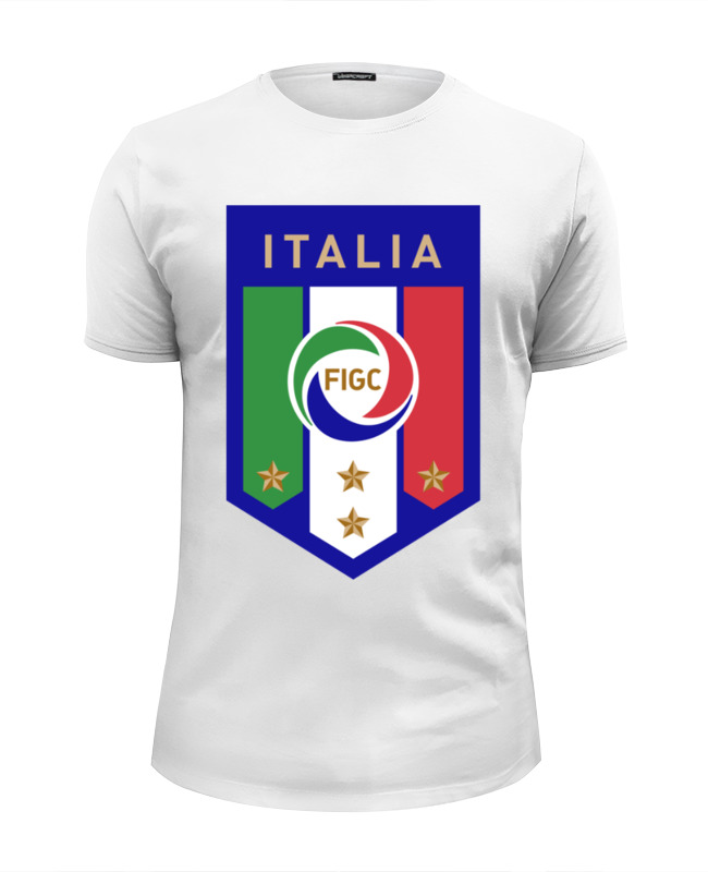 Printio Футболка Wearcraft Premium Slim Fit Итальянская федерация футбола (figc)