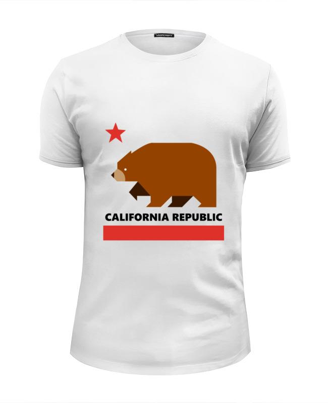 Printio Футболка Wearcraft Premium Slim Fit Калифорния (медведь)