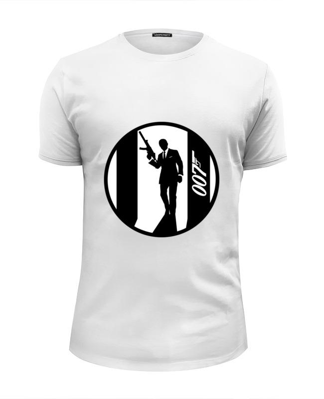 футболка wearcraft premium slim fit printio ronnie james dio Printio Футболка Wearcraft Premium Slim Fit Джеймс бонд