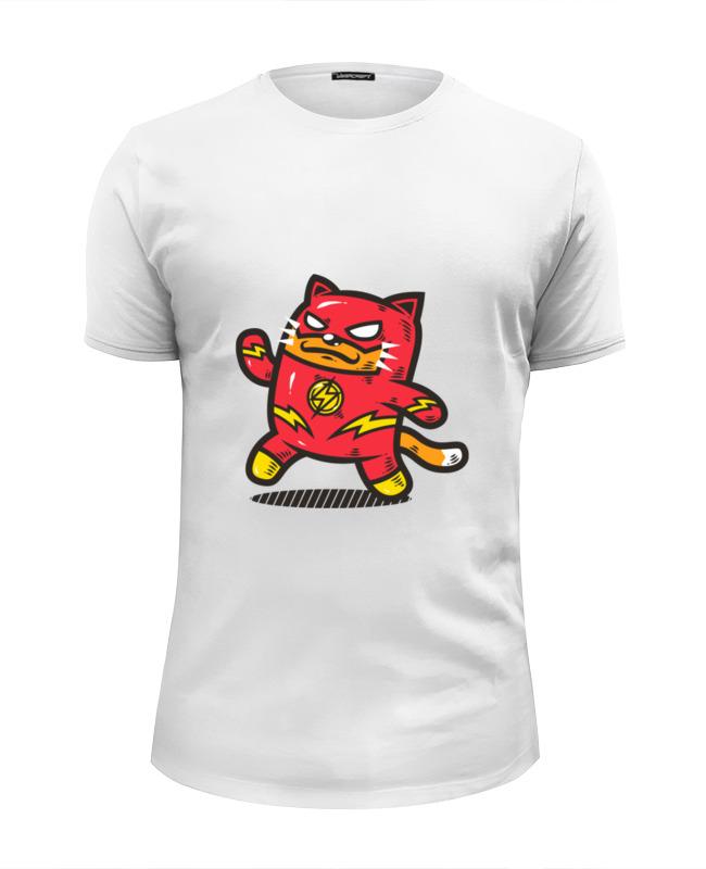 Printio Футболка Wearcraft Premium Slim Fit Кот-флэш футболка wearcraft premium slim fit printio кот гарфилд