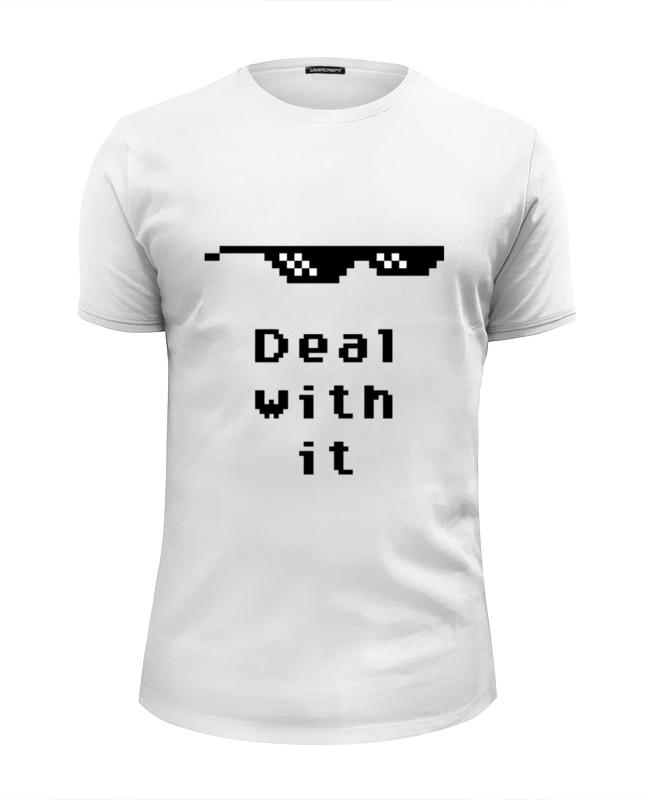 Фото - Printio Футболка Wearcraft Premium Slim Fit Пиксельные очки (deal with it) солнцезащитные очки pixel crew deal with it