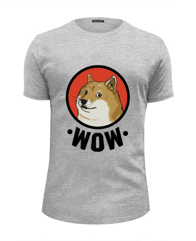 printio футболка wearcraft premium slim fit doge wow Printio Футболка Wearcraft Premium Slim Fit Лайка wow