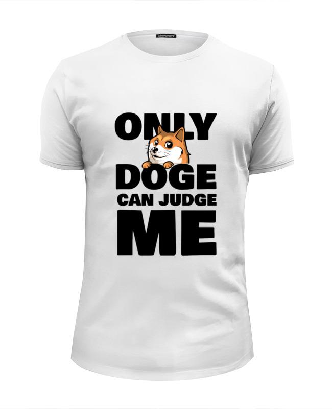 printio футболка wearcraft premium slim fit doge wow Printio Футболка Wearcraft Premium Slim Fit Only doge can judge me