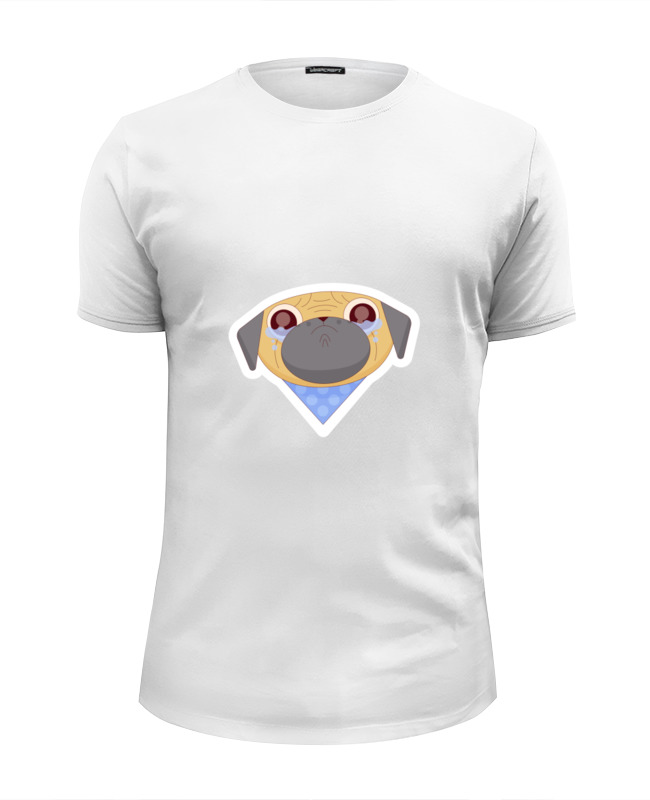 Printio Футболка Wearcraft Premium Slim Fit Забавный мопс printio футболка wearcraft premium slim fit мопс космонавт