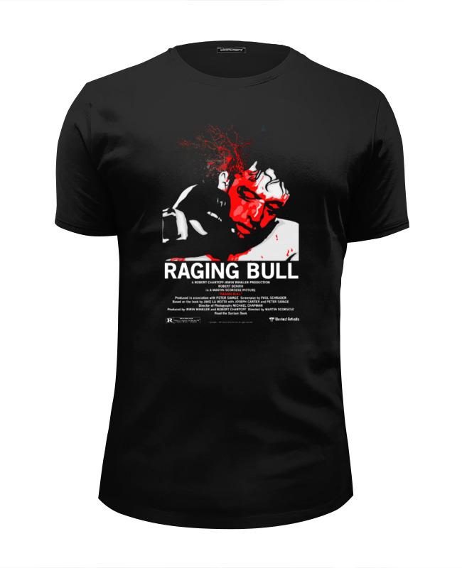 Printio Футболка Wearcraft Premium Slim Fit Raging bull / бешеный бык printio детская футболка классическая унисекс raging bull бешеный бык