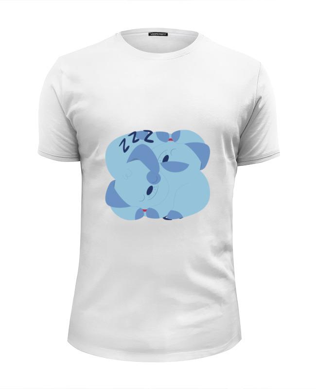 Printio Футболка Wearcraft Premium Slim Fit Спящая собака футболка wearcraft premium slim fit printio собака shar pei