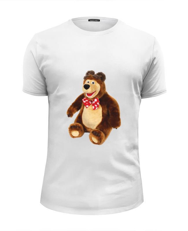 Printio Футболка Wearcraft Premium Slim Fit Медведь.мягкая игрушка. любимый мульт.