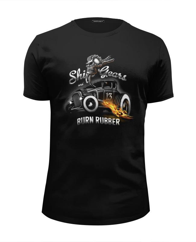 printio shift gears Printio Футболка Wearcraft Premium Slim Fit Shift gears and burn rubber