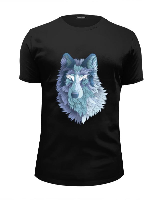 Printio Футболка Wearcraft Premium Slim Fit Beautiful wolf printio футболка wearcraft premium горы в стиле минимализма